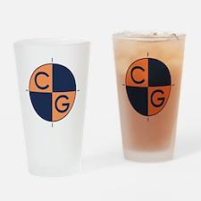 CG_orange_blue Drinking Glass