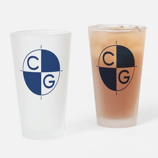 CG_blue_white Drinking Glass