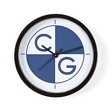 CG_blue_white Wall Clock