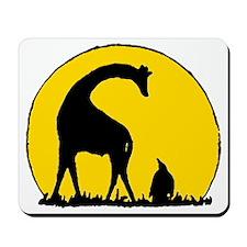Penguin And Giraffe Mousepad
