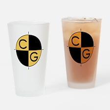 CG_yellow_black Drinking Glass