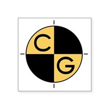"CG_yellow_black Square Sticker 3"" x 3"""