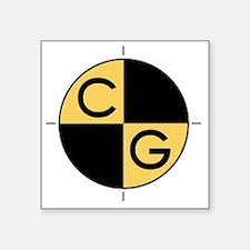"CG_yellow_black Square Sticker 3"" x 3"""