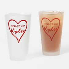 Hearts_For_Kylee Drinking Glass