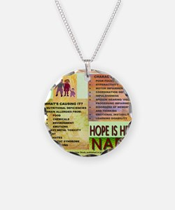 Small Autism Poster Necklace