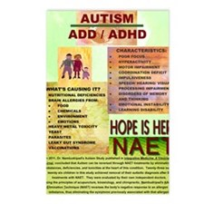 Small Autism Poster Postcards (Package of 8)