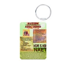 Small Autism Poster Aluminum Photo Keychain