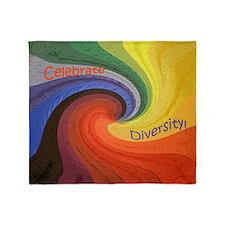 Diversity square Throw Blanket