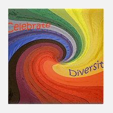 Diversity square Tile Coaster