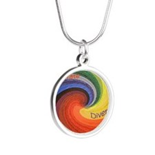 Diversity square Silver Round Necklace