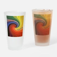 Diversity square Drinking Glass