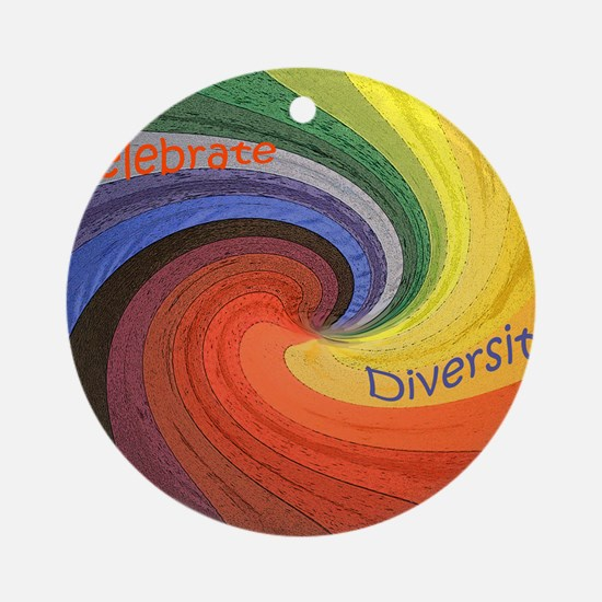 Diversity square Round Ornament