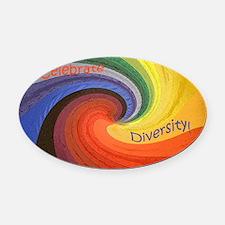 Diversity square Oval Car Magnet