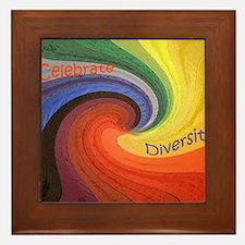 Diversity square Framed Tile