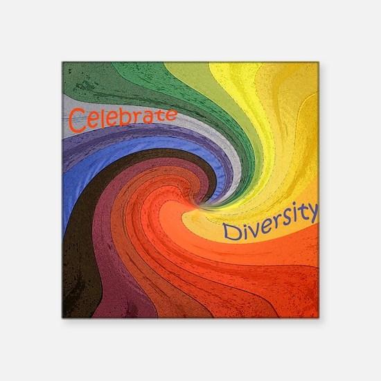 "Diversity square Square Sticker 3"" x 3"""