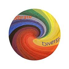 "Diversity square 3.5"" Button"