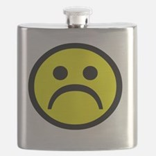 Classic Yellow sad face Flask