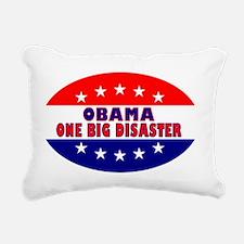 OvalStickerObamaOneBigDi Rectangular Canvas Pillow