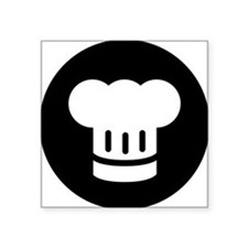 "Chef Square Sticker 3"" x 3"""