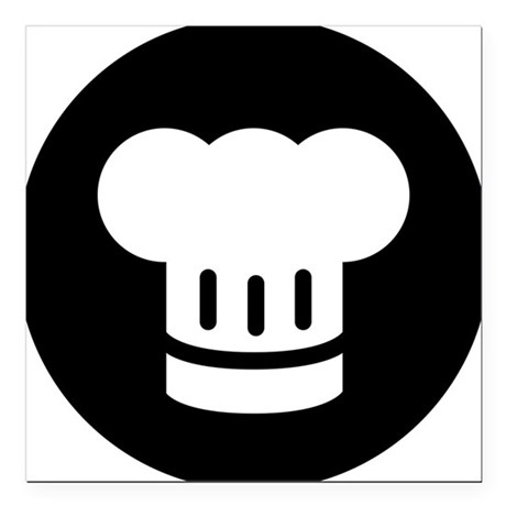 "Chef Square Car Magnet 3"" x 3"""