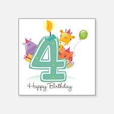 """bigstock_Happy_Birthday_Can Square Sticker 3"""" x 3"""""""