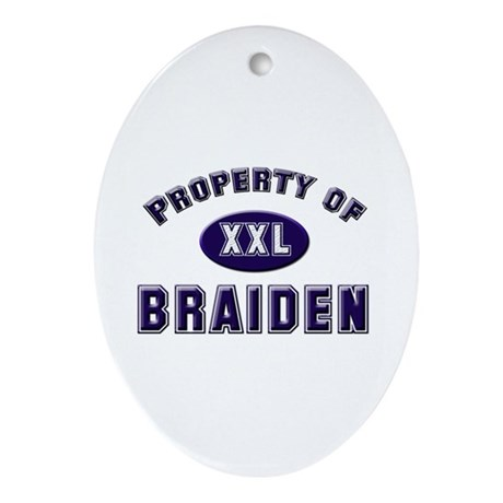 Property of braiden Oval Ornament