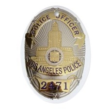 LAPD3 Oval Ornament