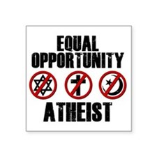 "eqatheist Square Sticker 3"" x 3"""