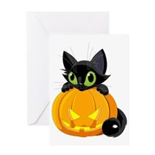 bigstock_Halloween_Black_Cat_9465668 Greeting Card