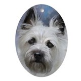 Carin terrier dog Oval Ornaments
