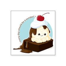 "brownie-sundae Square Sticker 3"" x 3"""