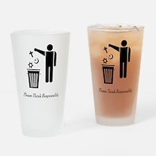 litterthink2 Drinking Glass