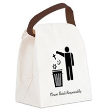 litterthink2 Canvas Lunch Bag