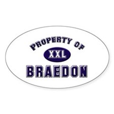 Property of braedon Oval Decal