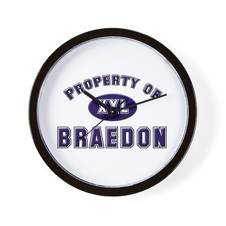 Property of braedon Wall Clock