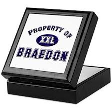 Property of braedon Keepsake Box