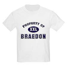 Property of braedon Kids T-Shirt