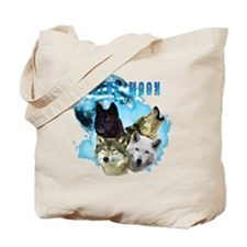 Blue Moon Wolves Tote Bag