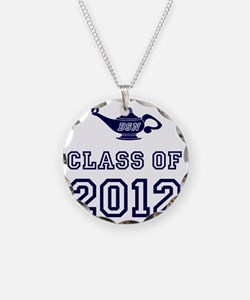 CO2012 BSN Navy Necklace Circle Charm