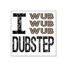 "WUB DUBSTEP_brown.gif Square Sticker 3"" x 3"""