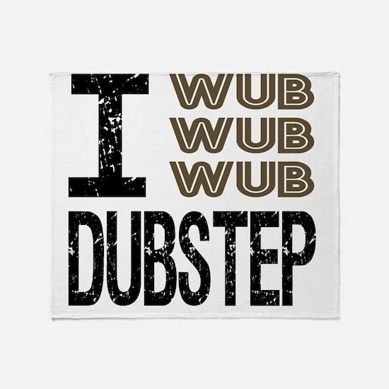 WUB DUBSTEP_brown.gif Throw Blanket