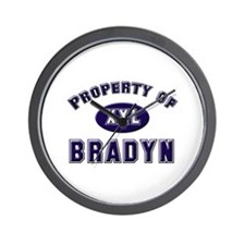 Property of bradyn Wall Clock