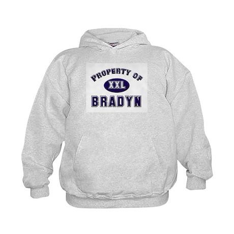 Property of bradyn Kids Hoodie