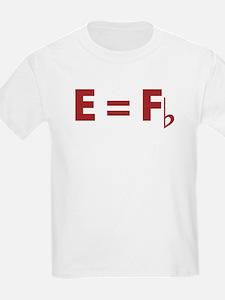 E Equals F Flat Kids T-Shirt