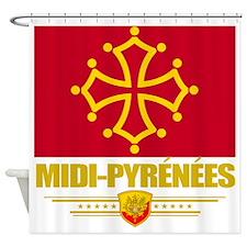 Midi-Pyrenees (Flag 10) Shower Curtain