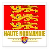 Haute normandy Square Car Magnets