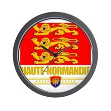 Haute-Normandie (Flag 10) Wall Clock