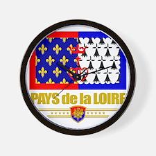 Pays de la Loire (Flag 10) Wall Clock
