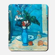 cezanne blue vase no poster Mousepad