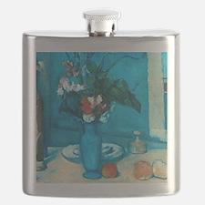 cezanne blue vase no poster Flask